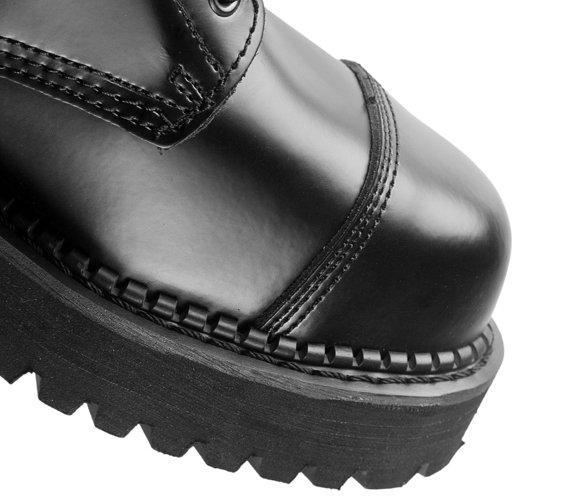 glany GRINDERS - BULLDOG (BLACK) 10-dziurkowe