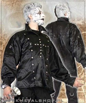 koszula DUPLICATE SHIRT SATIN (Black) (A-3-04-070-00)
