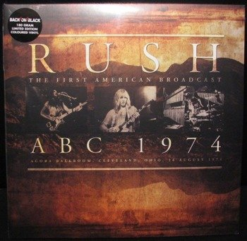RUSH: ABC 1974 (2LP VINYL)