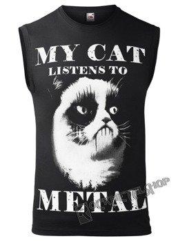bezrękawnik AMENOMEN - MY CAT LISTENS TO METAL (OMEN077BR)