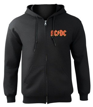 bluza AC/DC - HIGH VOLTAGE, rozpinana z kapturem