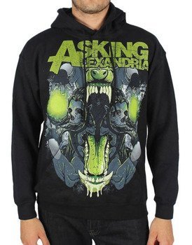 bluza ASKING ALEXANDRIA - TEETH czarna, kangurka z kapturem