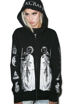 bluza BLACK CRAFT - RAM PRIEST rozpinana, z kapturem