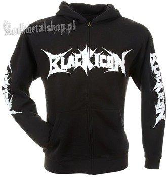 bluza BLACK ICON - CRAZY BETTY czarna, rozpinana z kapturem (HZICON082)