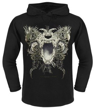bluza BLACK ICON - FEAR czarna z kapturem