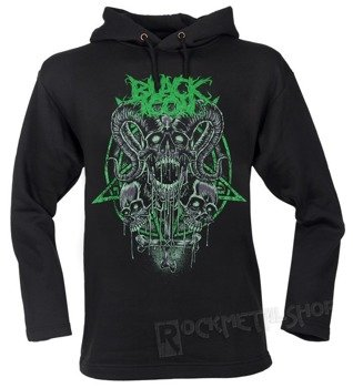 bluza BLACK ICON - RADIOACTIVE SKULL czarna z kapturem