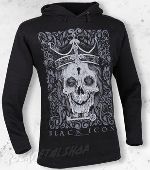 bluza BLACK ICON - THE KING czarna z kapturem