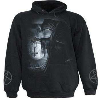 bluza DEATH PRAYER czarna, z kapturem