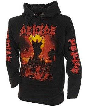 bluza DEICIDE - TO HELL WITH GOD czarna, z kapturem