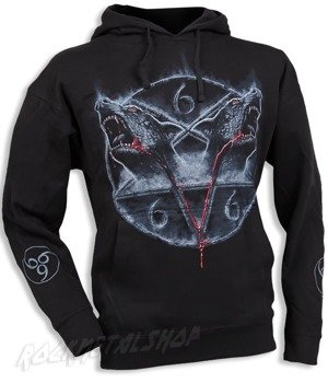 bluza HOUNDS OF HELL czarna, z kapturem