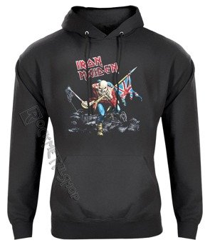 bluza IRON MAIDEN - TROOPER, kangurka z kapturem