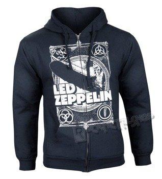 bluza LED ZEPPELIN - YOU SHOOK czarna, rozpinana z kapturem