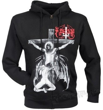 bluza MARDUK - CHRIST RAPING BLACK METAL, rozpinana z kapturem