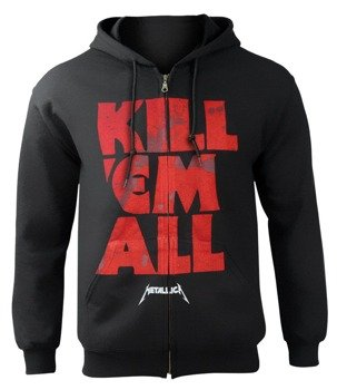 bluza METALLICA - KILL 'EM ALL MUTATED rozpinana, z kapturem