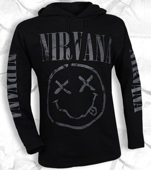bluza NIRVANA - SMILEY czarna, z kapturem