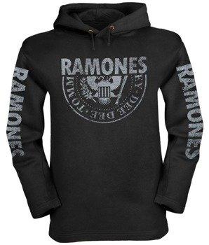 bluza RAMONES - LOGO czarna, z kapturem