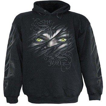 bluza SHE WOLF czarna, z kapturem