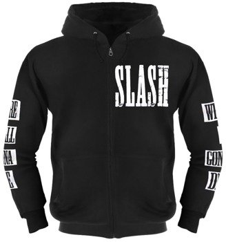 bluza SLASH - LOGO rozpinana, z kapturem