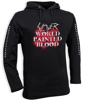 bluza SLAYER - WORLD PAINTED BLOOD czarna, z kapturem