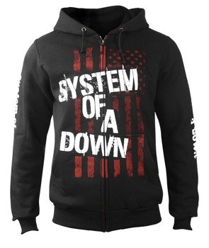 bluza SYSTEM OF A DOWN - FLAG, rozpinana z kapturem