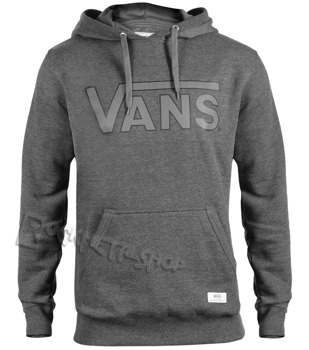 bluza VANS - CLASSIC BLACK HEATHER, kangurka z kapturem