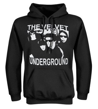 bluza czarna kangurka THE VELVET UNDERGROUND - FACES