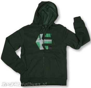 bluza na suwak ETNIES - LOGO FILL (FULL ZIP) (DARK GREEN) 09'