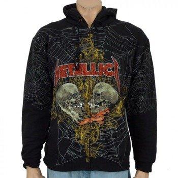 bluza rozpinana z kapturem METALLICA - DOUBLE SKULL