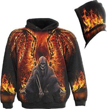 bluza z kapturem FLAMING DEATH