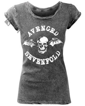 bluzka damska AVENGED SEVENFOLD - CLASSIC DEATHBAT ACID WASH