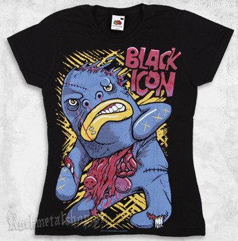 bluzka damska BLACK ICON - BIGMO (DICON096 BLACK)