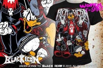 bluzka damska BLACK ICON - MOUSE, DUCK AND DOG (DICON111 BLACK)