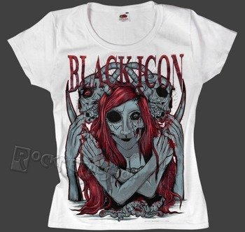 bluzka damska BLACK ICON - MY BRAIN MY SKULL (DICON054 WHITE)