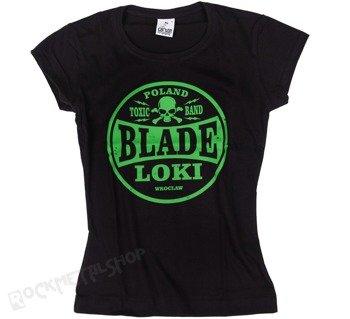 bluzka damska BLADE LOKI - TOXIC BAND green