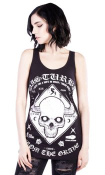 bluzka damska DISTURBIA - WARNING VEST DRESS
