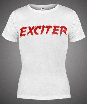 bluzka damska EXCITER - RED LOGO biała