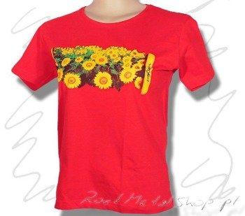 bluzka damska FLOWERS czerwona