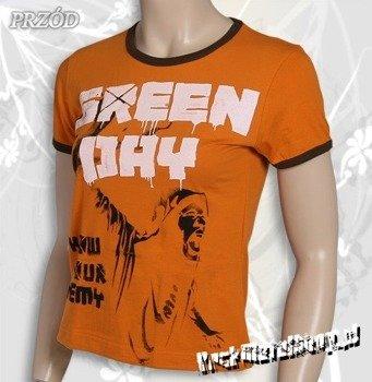 bluzka damska GREEN DAY - KNOW YOUR ENEMY pomarańczowa