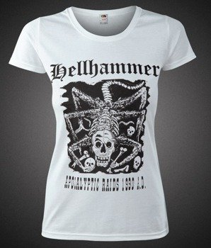 bluzka damska HELLHAMMER - APOCALYPTIC RAIDS 1990 A.D. biała