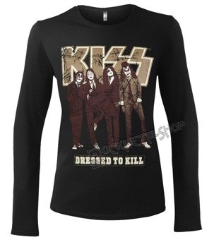bluzka damska KISS - DRESSED TO KILL długi rękaw