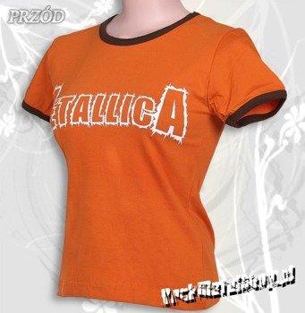 bluzka damska METALLICA - DEATH MAGNETIC pomarańczowa