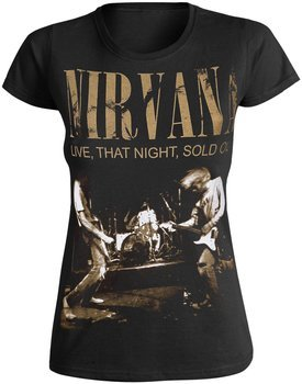 bluzka damska NIRVANA - LIVE, THAT NIGHT, SOLD OUT