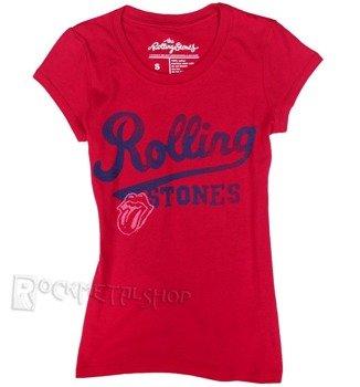 bluzka damska ROLLING STONES - TEAM LOGO czerwona