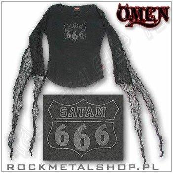 bluzka damska SATAN 666 (medieval arm) firma OMEN (391)