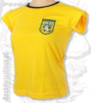 bluzka damska SEPULTURA piłkarska żółta
