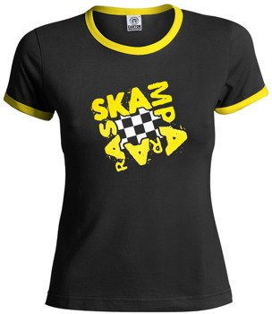 bluzka damska SKAMPARARAS - LOGO (czarno-żółta)