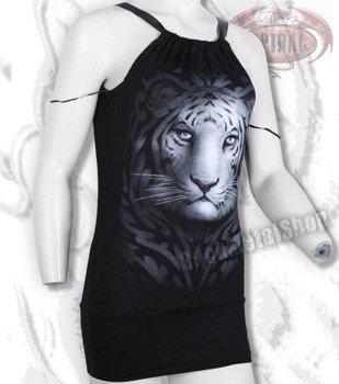 bluzka damska WHITE TIGER na ramiączka
