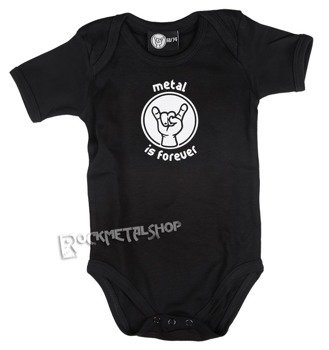 body dziecięce METAL IS FOREVER black