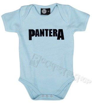 body dziecięce PANTERA - LOGO błękitne