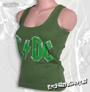 bokserka damska AC/DC - LOGO zielona